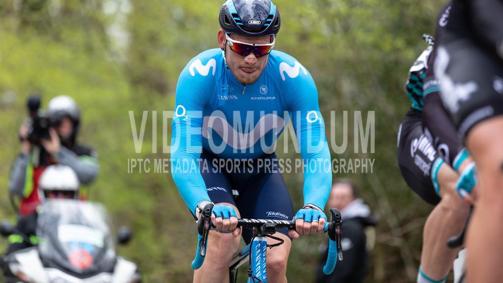 Kemmelberg, Belgium - March 27, 2019: Driedaagse Brugge-De Panne UCI men elite road racing event | Kemmelberg, Belgium - March 27, 2019: Driedaagse Brugge-De Panne UCI men elite road racing event, Photo: videomundum