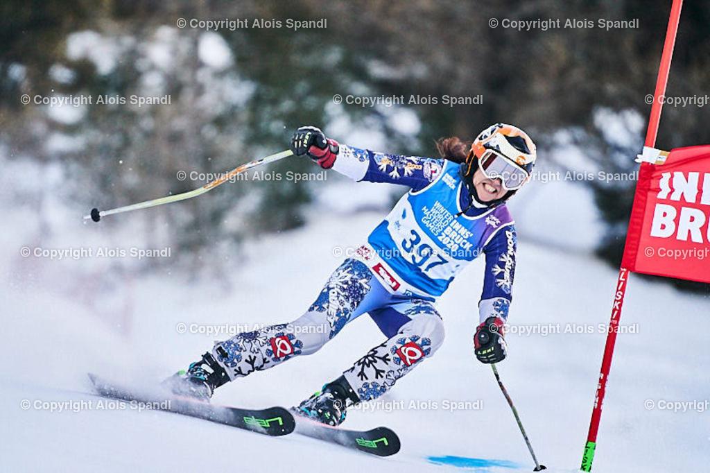 ALS5670_WWMG_GS-II_C | (C) FotoLois.com, Alois Spandl, WinterWorldMastersGames 2020 Innsbruck, Giant Slalom-II Gruppe C Damen, Patscherkofel Olympiaabfahrt, Mi 15. Jänner 2020.