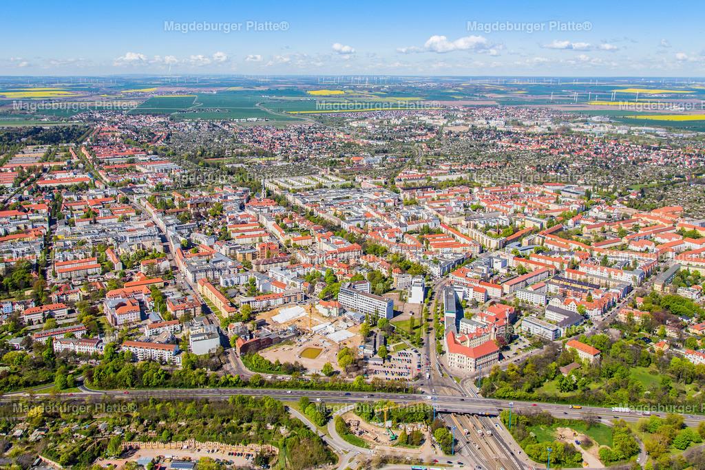 05 Luftbild Magdeburg Diesdorfer Glacies Damaschkeplatz-6137