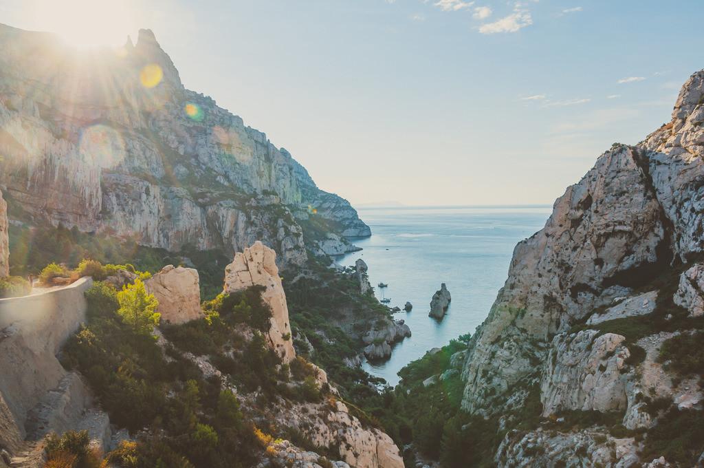 Marseille   Marseille, Frankreich, Südfrankreich, Süden, Mittelmeer, Urlaub, Sommer, Calanques, Nationalpark, Klippe, Felsen, Berge, Bucht, Strand, Meer
