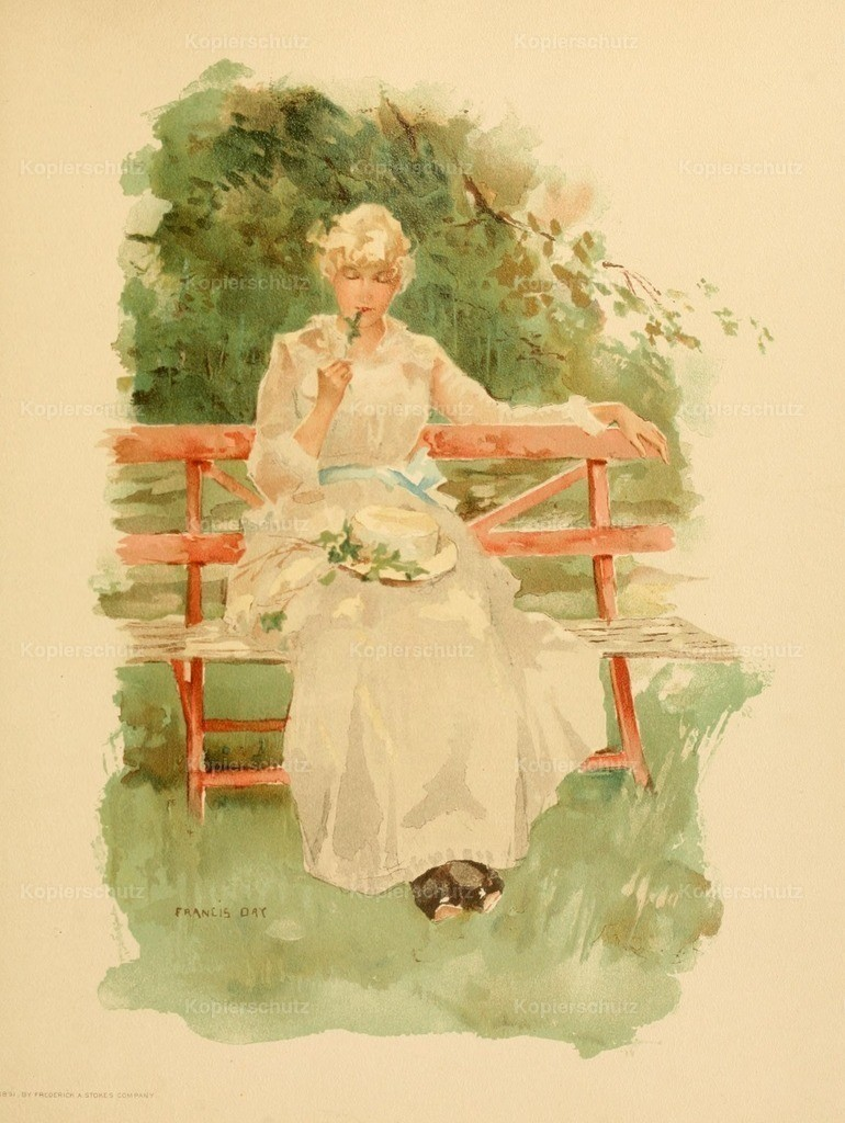 Day_ Francis (1863-1942) - Point Lace _ Diamonds 1891 - Gleaming hair