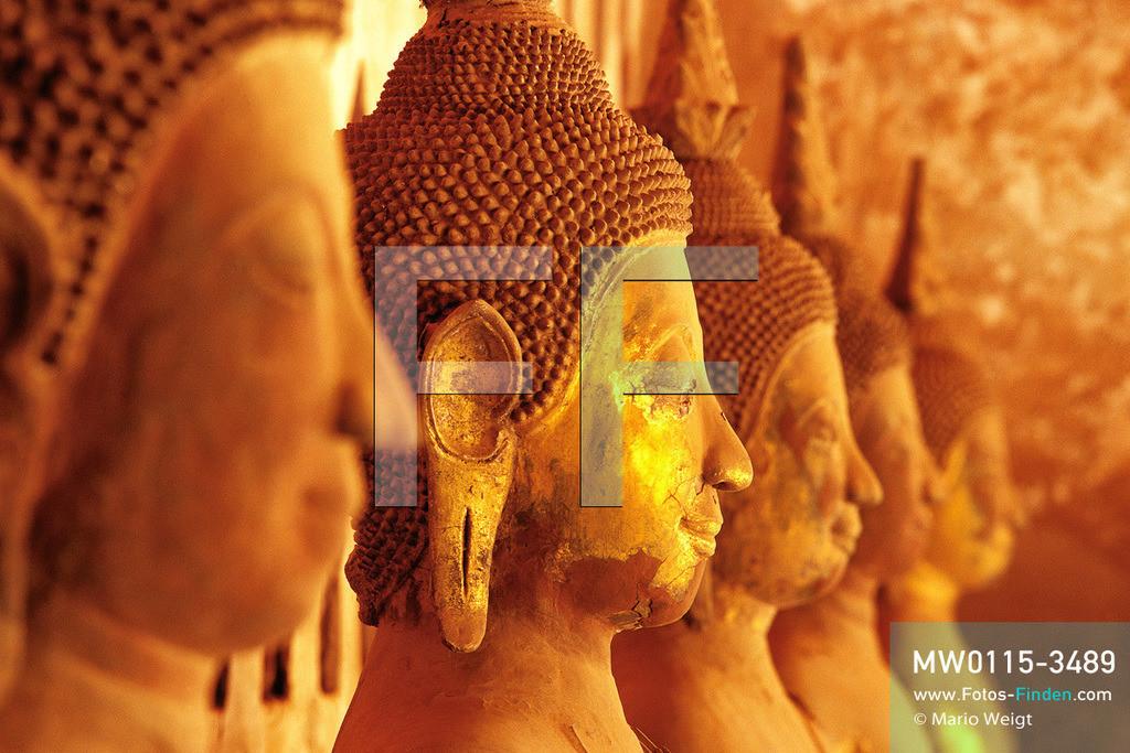 MW0115-3489   Laos   Vientiane   Meditative Fotos   Buddha-Statuen im Wat Si Sa Ket in Vientiane  ** Feindaten bitte anfragen bei Mario Weigt Photography, info@asia-stories.com **