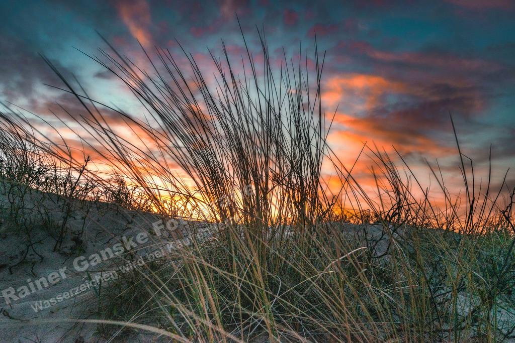 20210401-Düne Strand Gras Sonnenuntergang 1. April 2021 Kopie