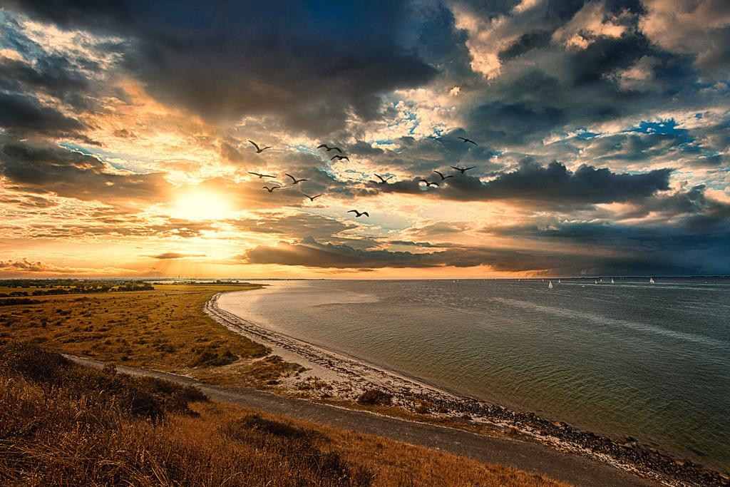 Sonnenuntergang Fehmarn Ostsee - Warm