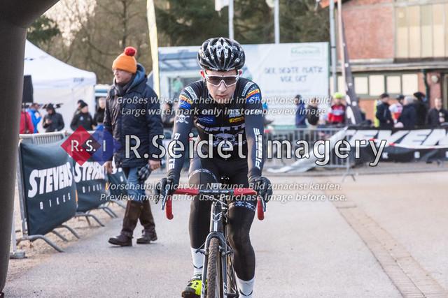 Radsport, Stevens Cyclocross Cup 2019, 10. Lauf (RSG Nordheide), Rennen 9 (Elite Herren + U23, Masters 2 / Elite Ü40 und Junioren U19), Buchholz i.d.N., 19.01.2020 | Domenic Karrasch (RG Hamburg, #47, Elite)