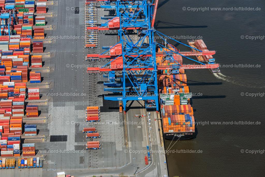 Hamburg Altenwerder_CCA_HHLA_ELS_0688110517 | Hamburg - Aufnahmedatum: 11.05.2017, Aufnahmehöhe:  m, Koordinaten:  - , Bildgröße: 6904 x  4607 Pixel - Copyright 2017 by Martin Elsen, Kontakt: Tel.: +49 157 74581206, E-Mail: info@schoenes-foto.de  Schlagwörter:Altenwerder,HHLA,CTA,Container Terminal,Container,Automatisiert,Luftbild, Luftbilder,