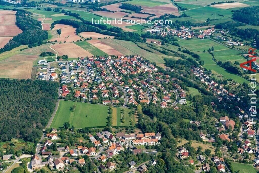 burghaslach-19-781   aktuelles Luftbild von  Burghaslach - Luftaufnahme wurde 2019 von https://frankenair.de mittels Flugzeug (keine Drohne) erstellt.