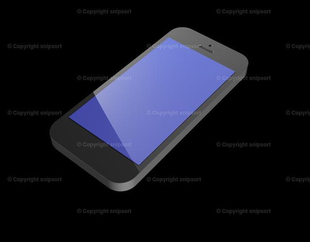 Smartphone auf schwarzem Hintergrund | Beispiel eines schwarzen Smartphones über schwarzem Hintergrund als 3D Rendering
