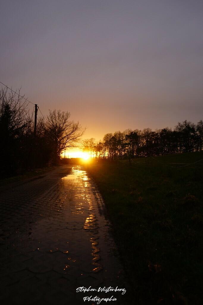 Sunset Burgweg Waroba | Sonnenuntergang auf dem Burgweg Wartenberg-Rohrbach