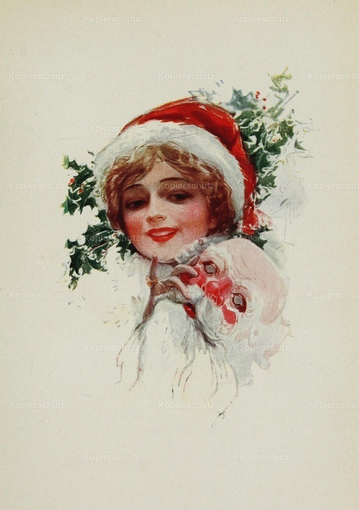 Fisher_ Harrison (1875-1934) - American Girls in Miniature 1912 - Miss Santa Claus