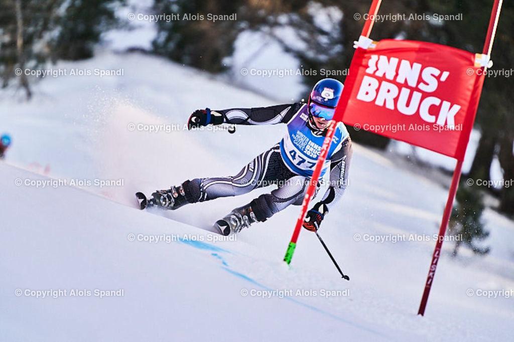 ALS6071_WWMG_GS-II_C | (C) FotoLois.com, Alois Spandl, WinterWorldMastersGames 2020 Innsbruck, Giant Slalom-II Gruppe C Damen, Patscherkofel Olympiaabfahrt, Mi 15. Jänner 2020.