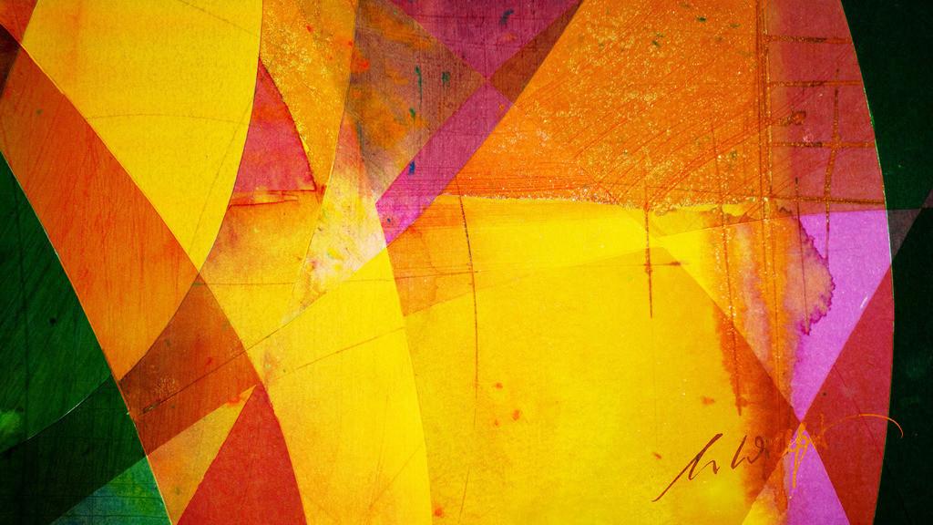 7_Farbeninstrumental | Instrumentalmusik mit den Augen hören ... Holzbeizen - Phantasie auf Papier.  (Teile der Originale von der Serie