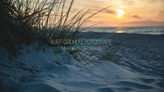 Strandmotiv, Sonnenuntergang | Sonnenuntergang am Meer