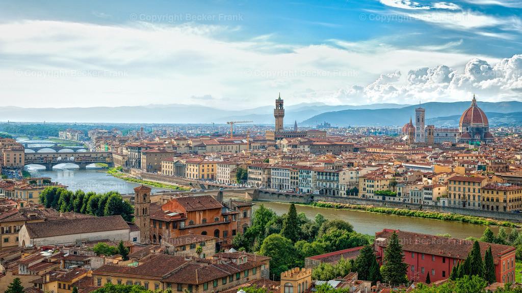 Florenz   Blich auf Florenz