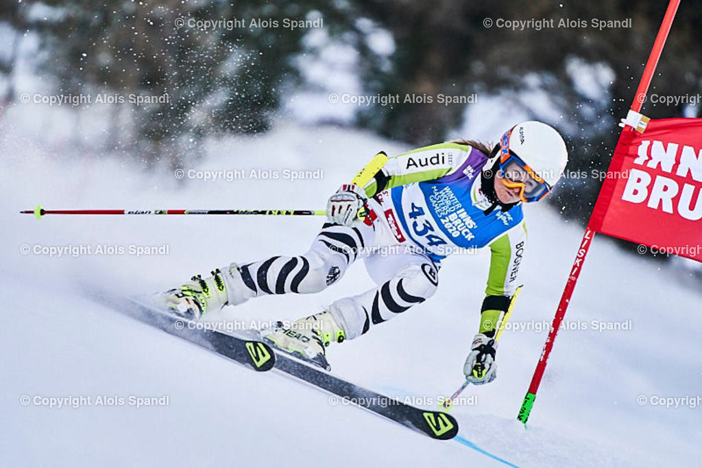 ALS5841_WWMG_GS-II_C   (C) FotoLois.com, Alois Spandl, WinterWorldMastersGames 2020 Innsbruck, Giant Slalom-II Gruppe C Damen, Patscherkofel Olympiaabfahrt, Mi 15. Jänner 2020.