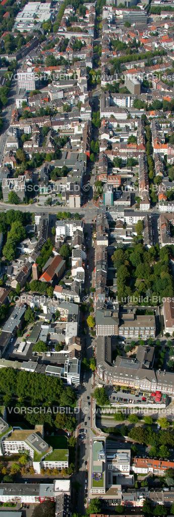 ES10094219a   Ruettenscheider Strasse, Luftbild,  Essen, Ruhrgebiet, Nordrhein-Westfalen, Germany, Europa, Foto: hans@blossey.eu, 05.09.2010