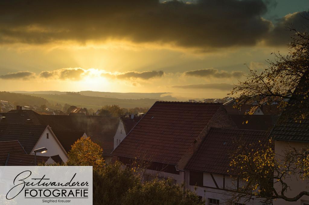 Sonnenuntergang in Hettingen