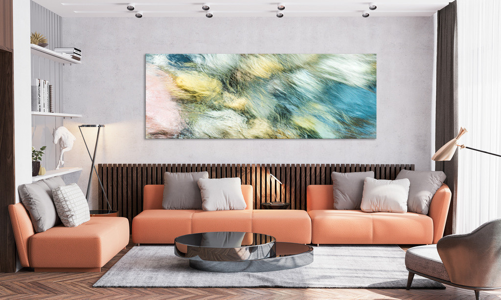 Wandbild mit Gebirgsbach für Ihr Wohnzimmer | Bestellen Sie dieses ausdrucksstarke Wandbild in der Galerie