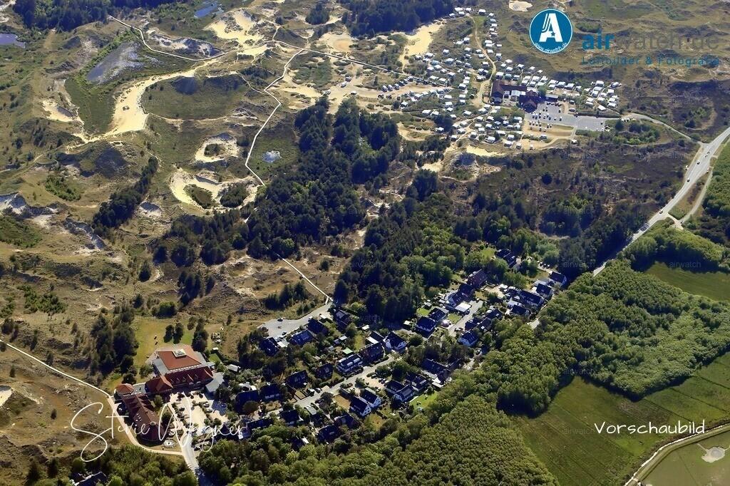 Luftbild Amrum, Wittduen, Norddorf, Nebel, Kniepsand, Nordsee | Luftbild Amrum, Wittduen, Norddorf, Nebel, Kniepsand, Nordsee