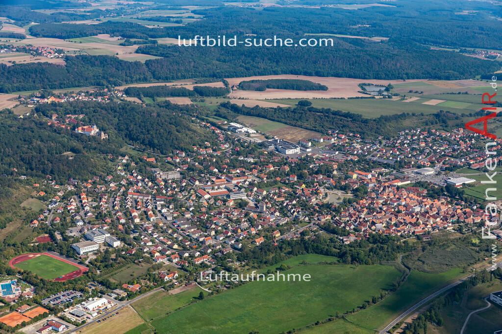 scheinfeld-19-764 | aktuelles Luftbild von  Scheinfeld - Luftaufnahme wurde 2019 von https://frankenair.de mittels Flugzeug (keine Drohne) erstellt.