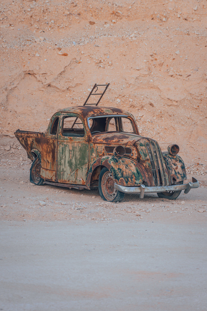 Altes Auto in Coober Pedy | Altes Auto in Coober Pedy