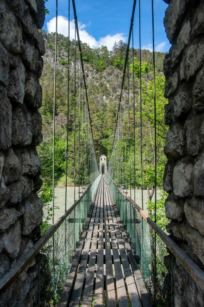Hängebrücke | Die Hängebrücke in Stams
