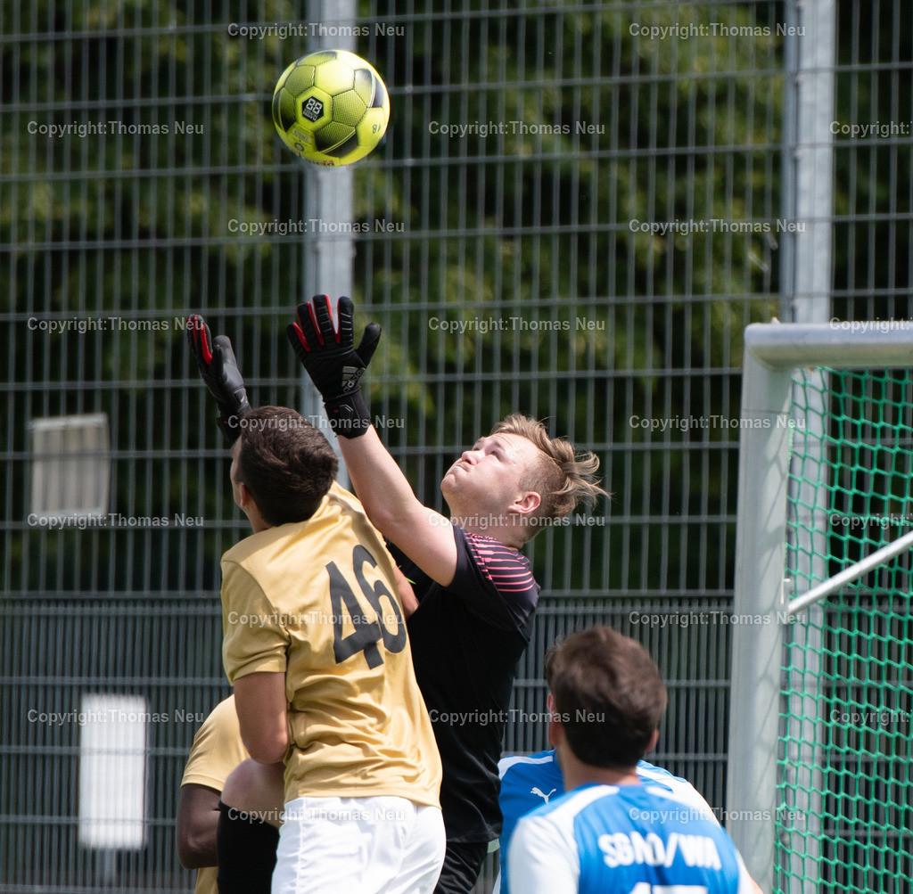 DSC_1331 | lsp Fußball FC 07 Bensheim II - Nordheim/Wattenheim, Yannick Herrmann und Torwart  Pascal Metz, ,, Bild: Thomas Neu