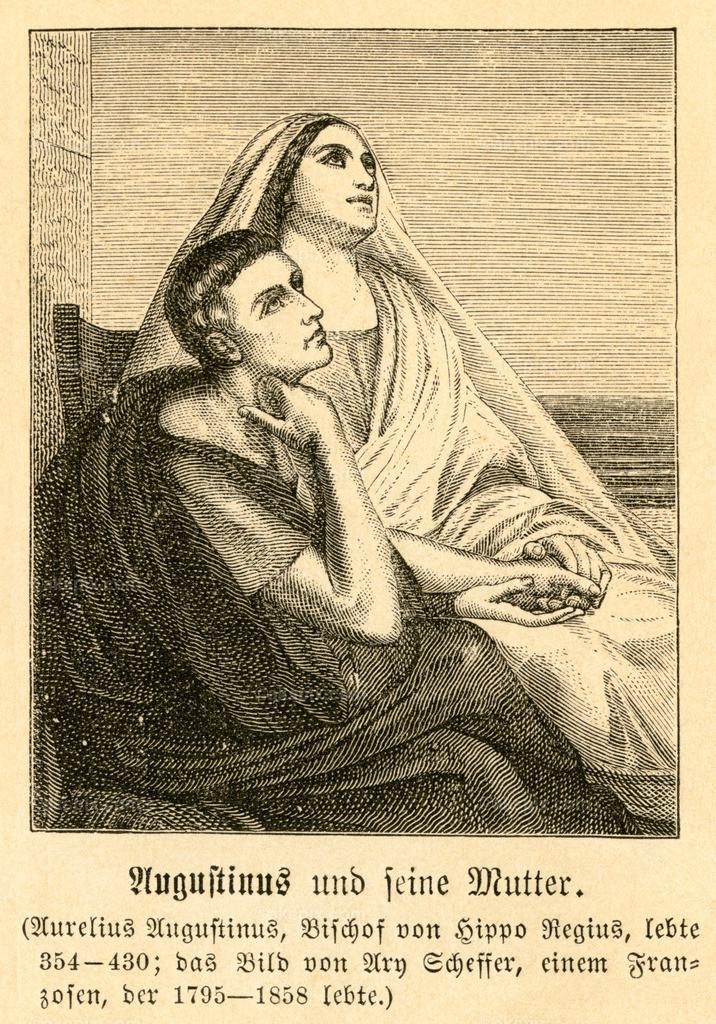 Augustinus und seine Mutter / Augustine of Hippo and his mother   Afrika, Algerien, Hippo Regius, Aurelius Augustinus, Bischof von Hippo Regius, und seine Mutter,  Motiv aus :