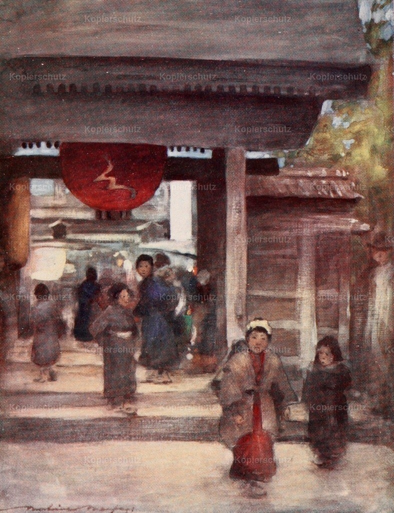 Menpes_ Mortimer (1855-1938) - Japan 1901 - The road to the temple
