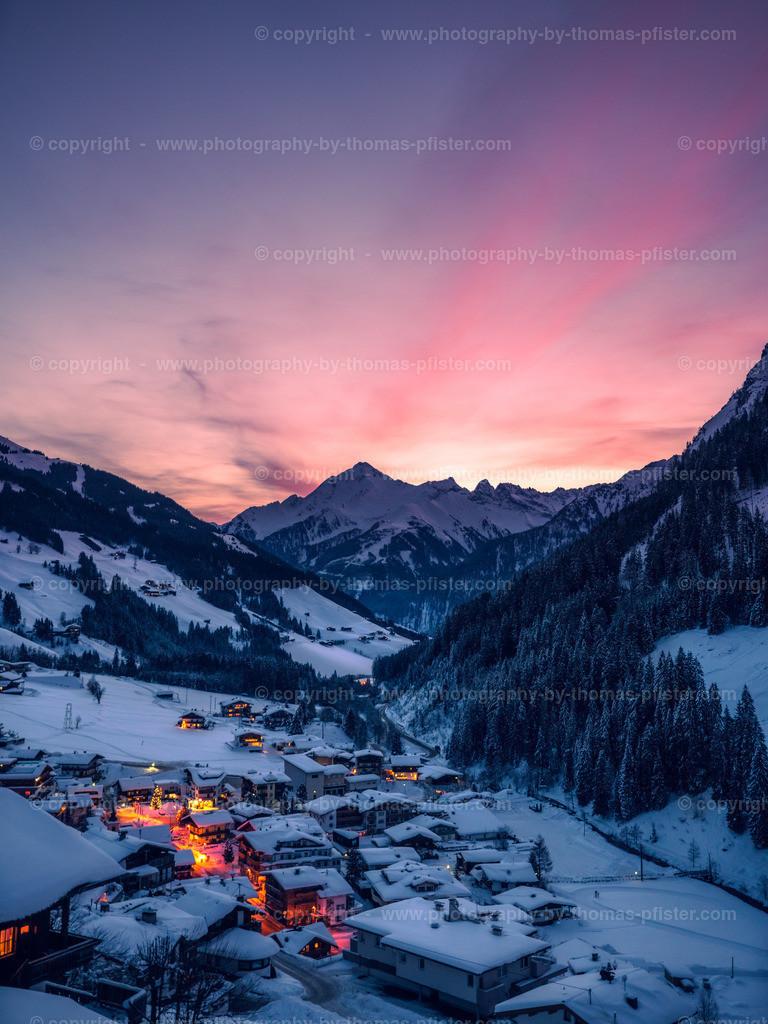Sonnenaufgang über Vorderlanersbach