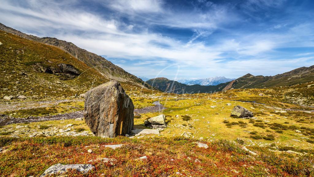 Beschriebener Stein | Der beschriebene Stein am Ende des Viggartales