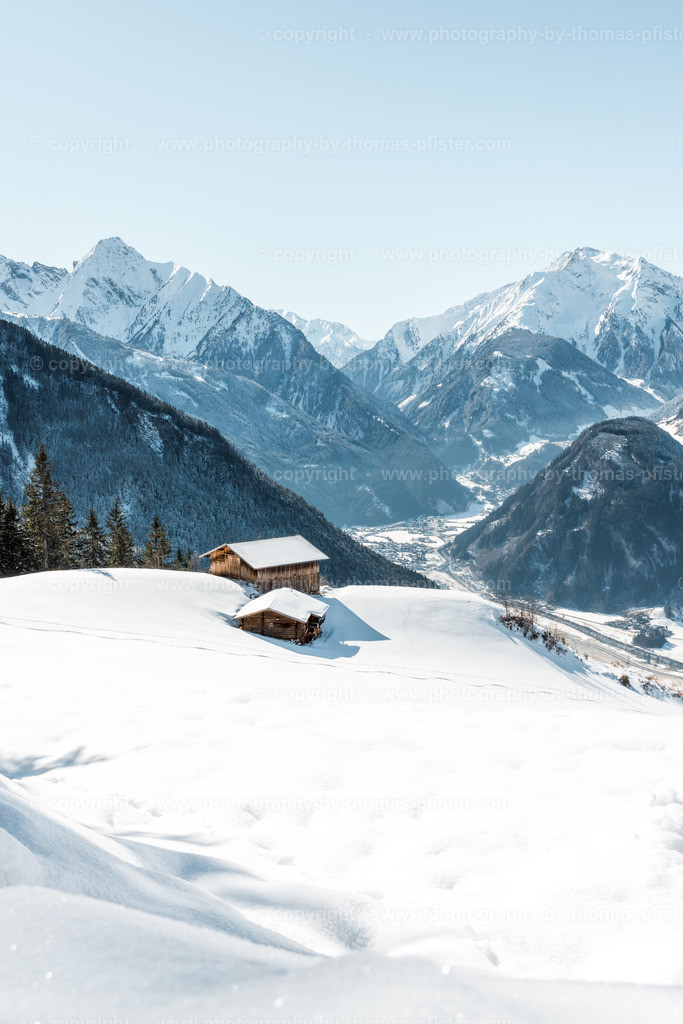 Blick hinunter nach Mayrhofen
