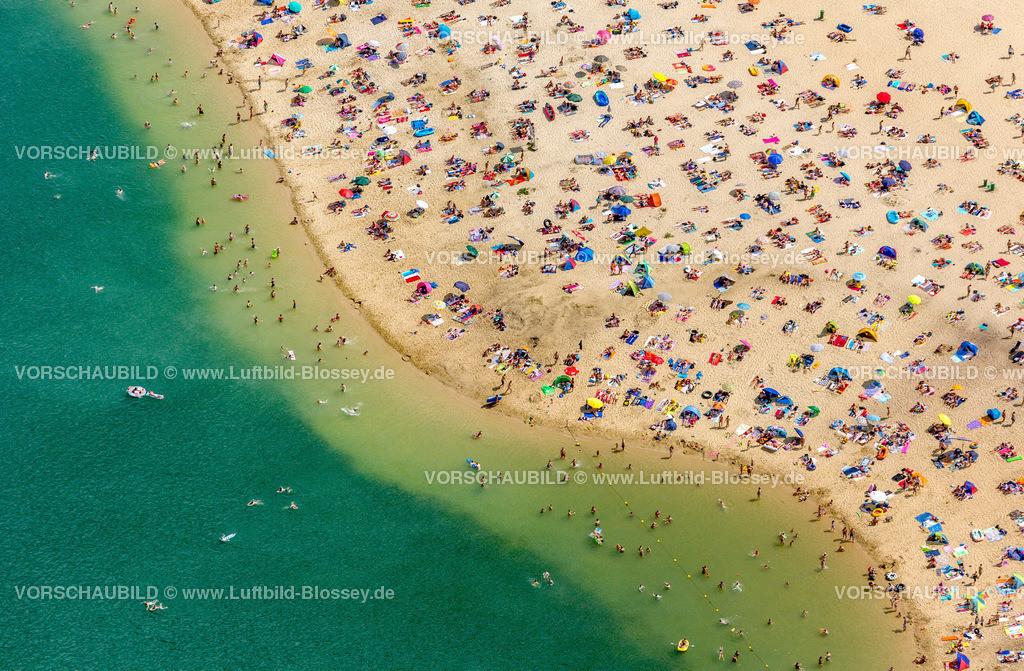 Haltern13081755 | Silbersee II aus der Luft, Sandstrand und türkisfarbenes Wasser, Luftbild von Haltern am See