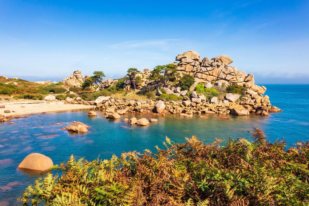 Atlantikküste in der Bretagne bei Ploumanach   Atlantikküste in der Bretagne bei Ploumanach.