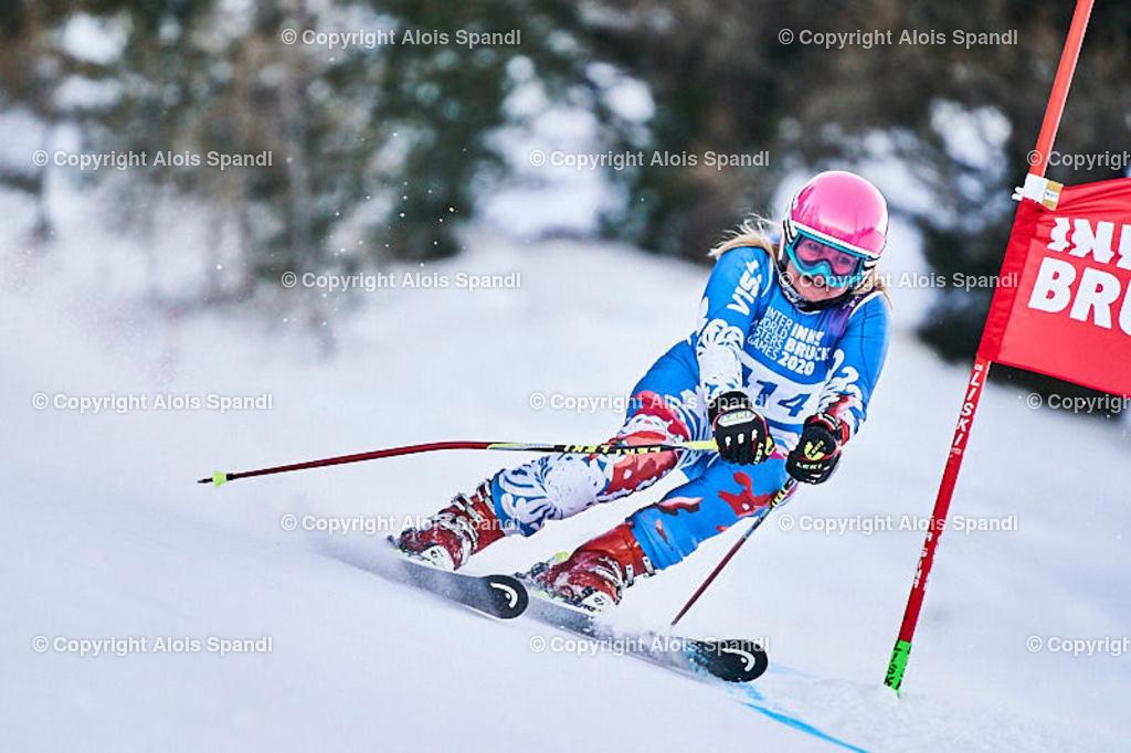 ALS5774_WWMG_GS-II_C | (C) FotoLois.com, Alois Spandl, WinterWorldMastersGames 2020 Innsbruck, Giant Slalom-II Gruppe C Damen, Patscherkofel Olympiaabfahrt, Mi 15. Jänner 2020.