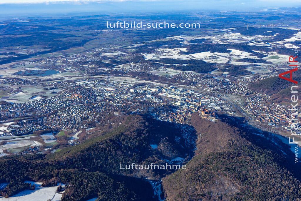kulmbach-19-130   aktuelles Luftbild von  Kulmbach - Luftaufnahme wurde 2019 von https://frankenair.de mittels Flugzeug (keine Drohne) erstellt.