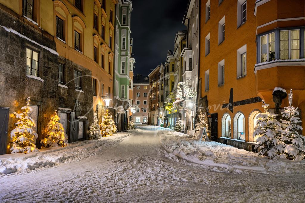 Kiebachgasse | Schnee in der Innsbrucker Altstadt