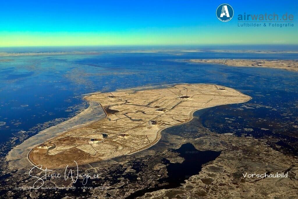 Winter Luftbild, Nordsee, Nordfriesland, Hallig Hooge   Winter Luftbild, Nordsee, Nordfriesland, Hallig Hooge