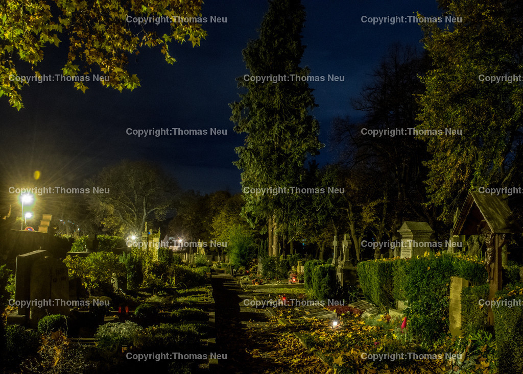 Friedhof | Bensheim,Friedhof Mitte, Bergstrasse bei Nacht, ,, Bild: Thomas Neu