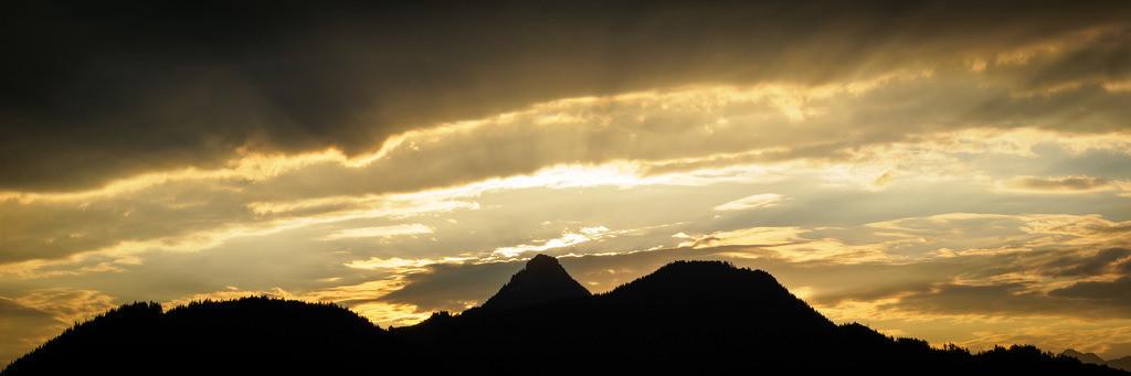 Sonnenuntergang Richtung Bayern