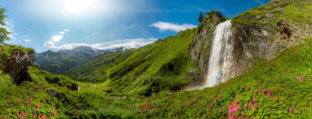 Schleierwasserfall Hintertux Panorama-1