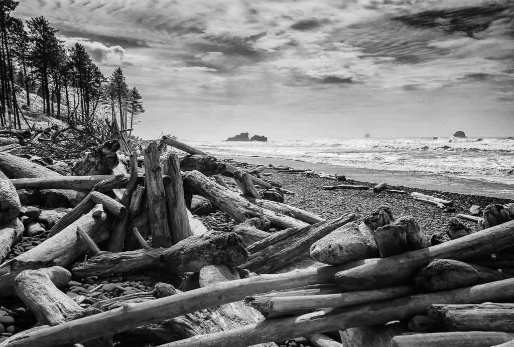 Ruby Beach © Holger Rüdel | Wilde Pazifikküste im Olympic National Park im Nordwesten der USA: Ruby Beach