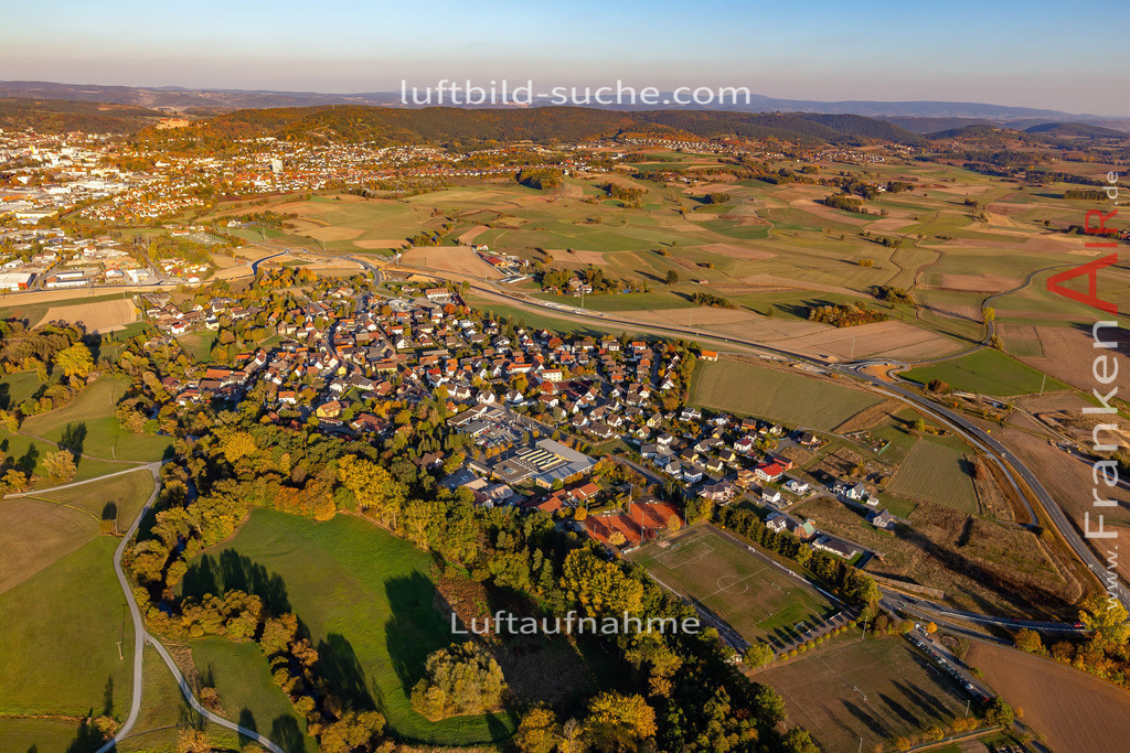 melkendorf-kulmbach-18-361   aktuelles Luftbild von Melkendorf Kulmbach - Luftaufnahme wurde 2018 von https://frankenair.de mittels Flugzeug (keine Drohne) erstellt.