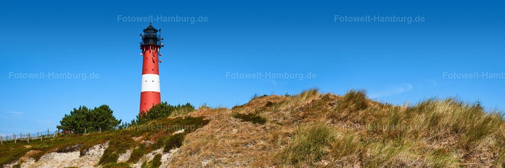 10180805 - Leuchtturm von Hörnum | Panoramablick auf den Leuchturm von Hörnum auf Sylt