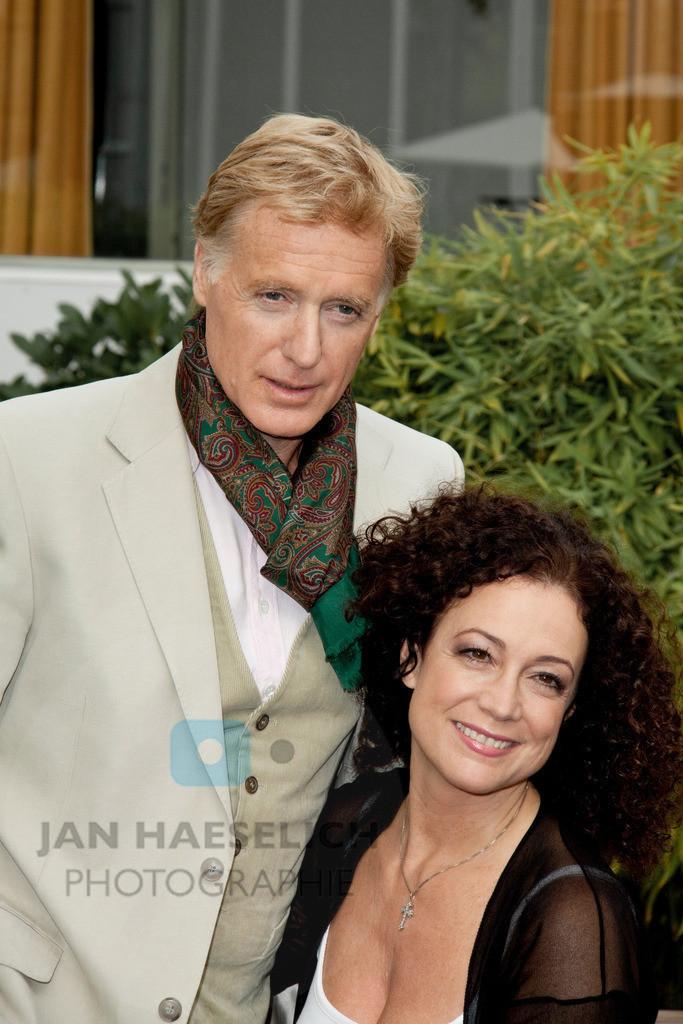Barbara Wussow und Ehemann Albert Fortell   Fototermin in Hamburg am 30.09.09 zum ARD Fernsehfilm