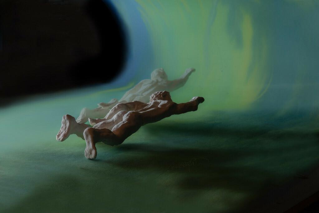 Adam und Adam, die Reise schwimmen 2 | Adam und Adam, schwimmend oder fliegend? ist es Wasser, Welle oder Himmel? Wer ist erster  und wer zweiter? auf der Reise durch das Leben, und am Ziel?