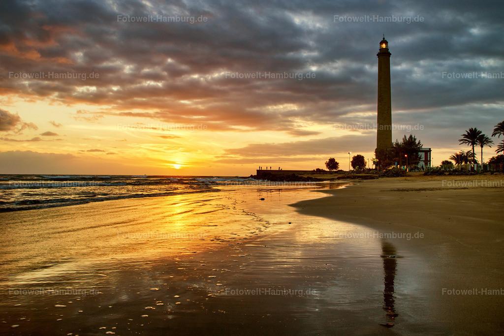 Sonnenuntergang am Leuchtturm von Maspalomas