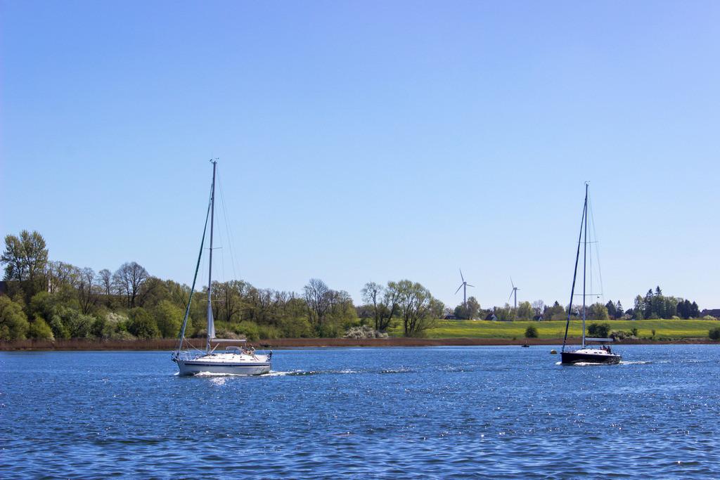 Kappeln an der Schlei | Segelboote auf der Schlei in Kappeln