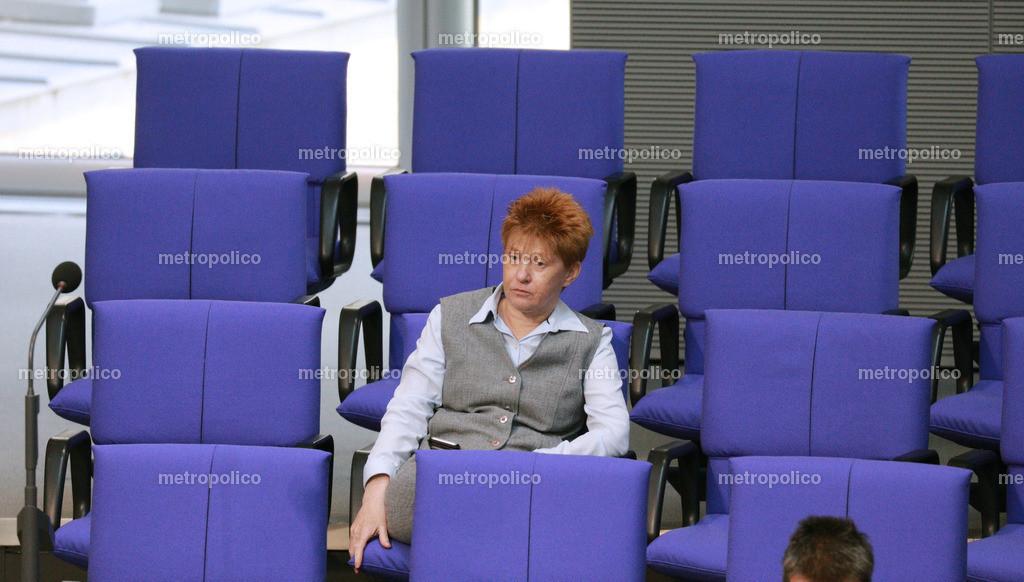 Petra Pau im Bundestag