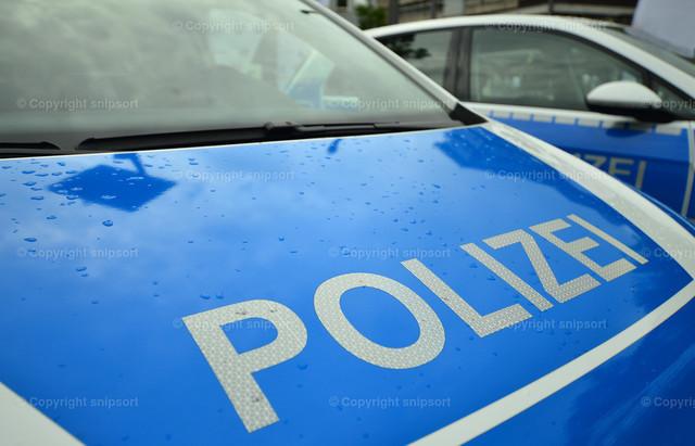 Polizeifahrzeuge | Zwei blaue Streifenautos